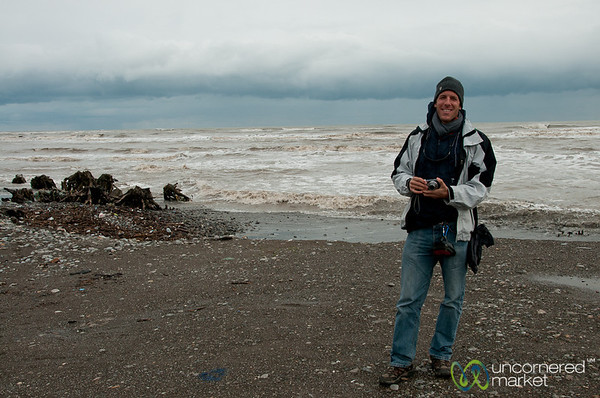 Dan at the Caspian Sea, Iran