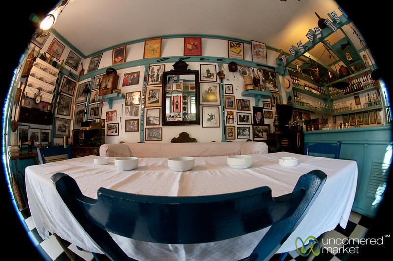 Fisheye of a Cretan Cafe - Rethymnon, Crete