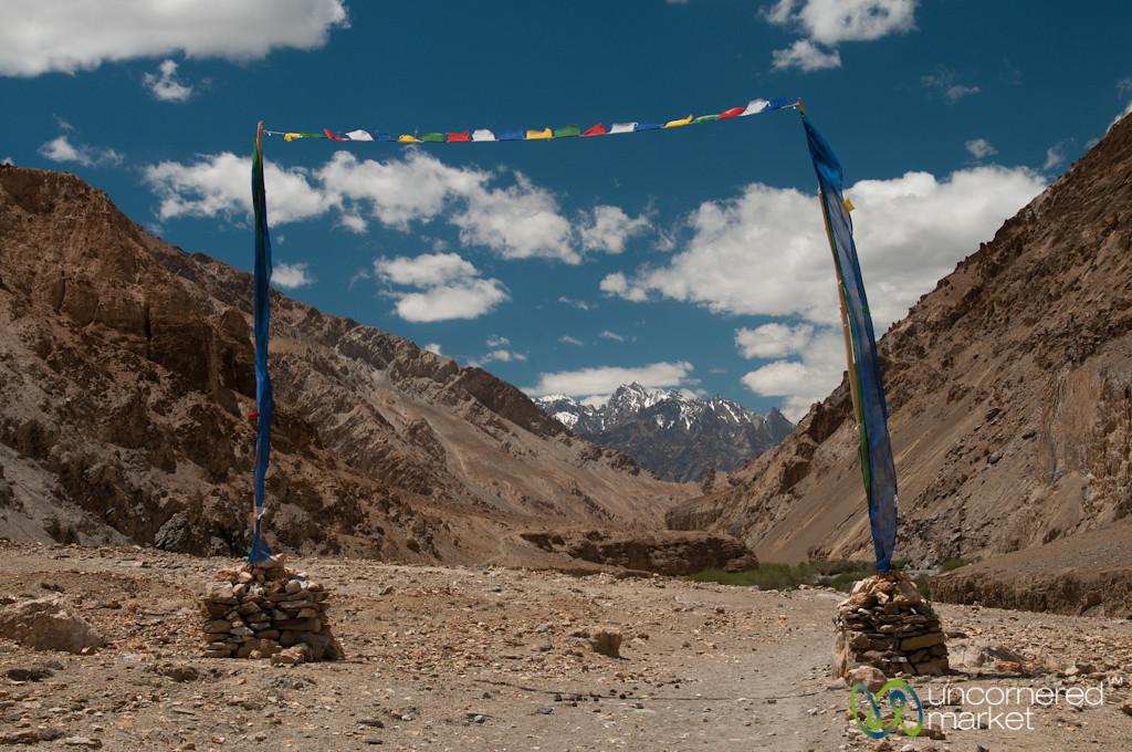 Mountain Landscapes and Prayer Flags - Markha Valley Trek, Ladakh