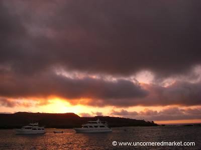 Sunset at Santa Fe - Galapagos Islands