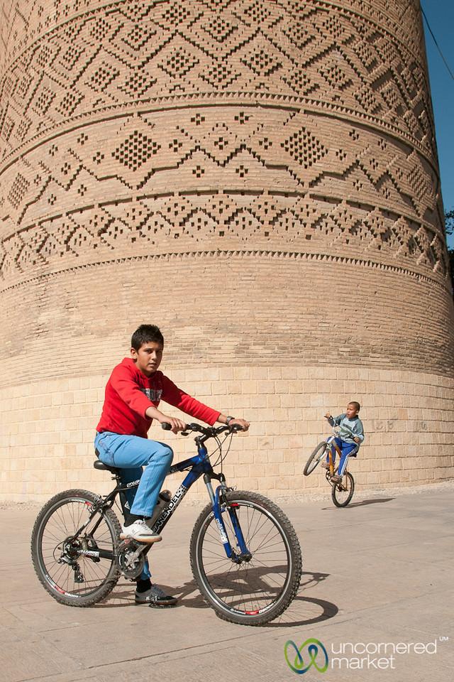 Iranian Boy on Bicycle - Shiraz, Iran