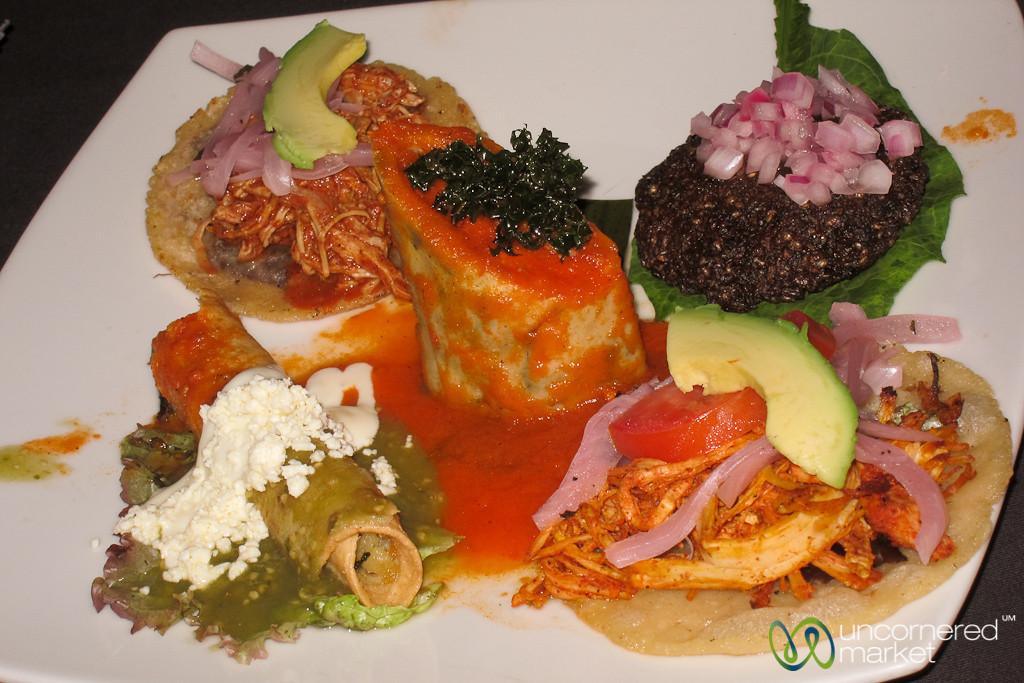 Maya Appetizers at Yaxche Restaurant - Playa del Carmen, Mexico