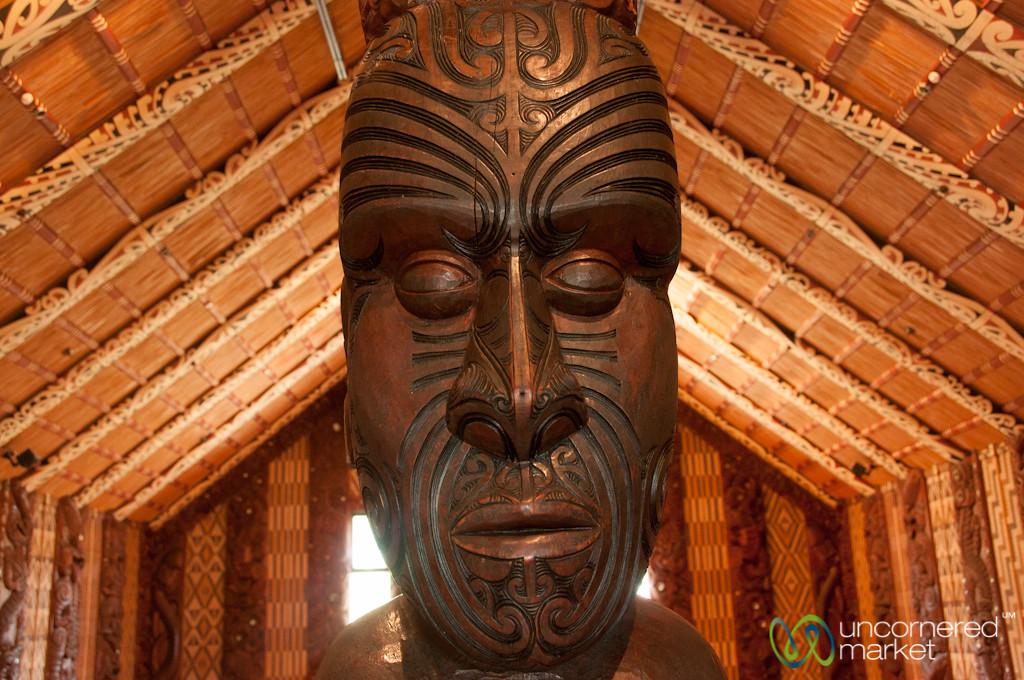 Maori Face Sculpture  - Waitangi Treaty Grounds, New Zealand