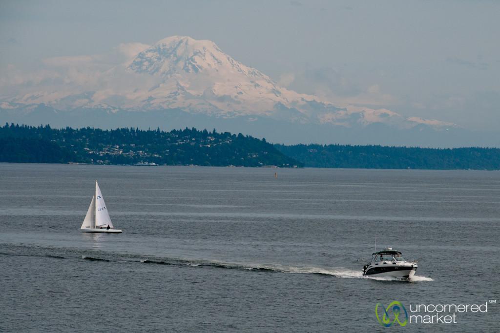 Mount Rainier and Puget Sound - Seattle, Washington