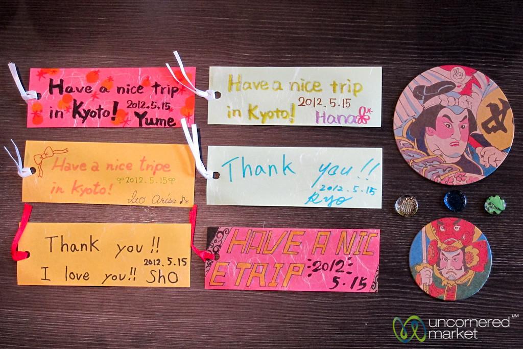Japanese School Kids Greetings - Kyoto, Japan