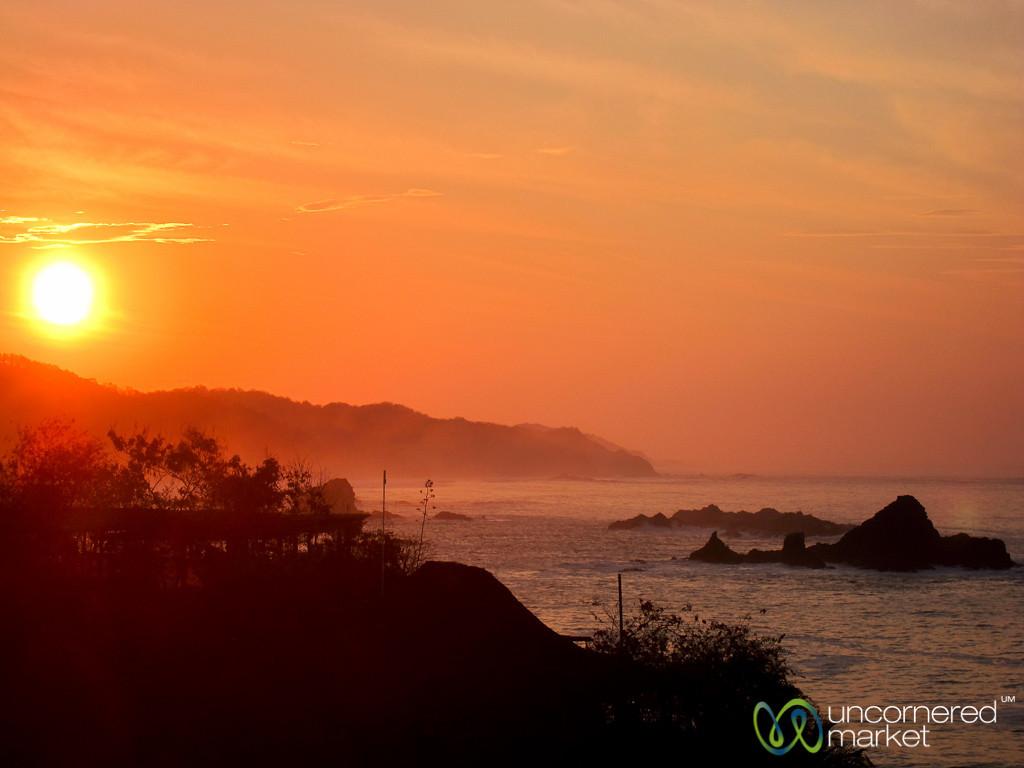 Sunrise along Mexico's Pacific Coast - Mazunte, Oaxaca