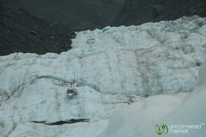 Helicopter at Franz Josef Glacier - South Island, New Zealand