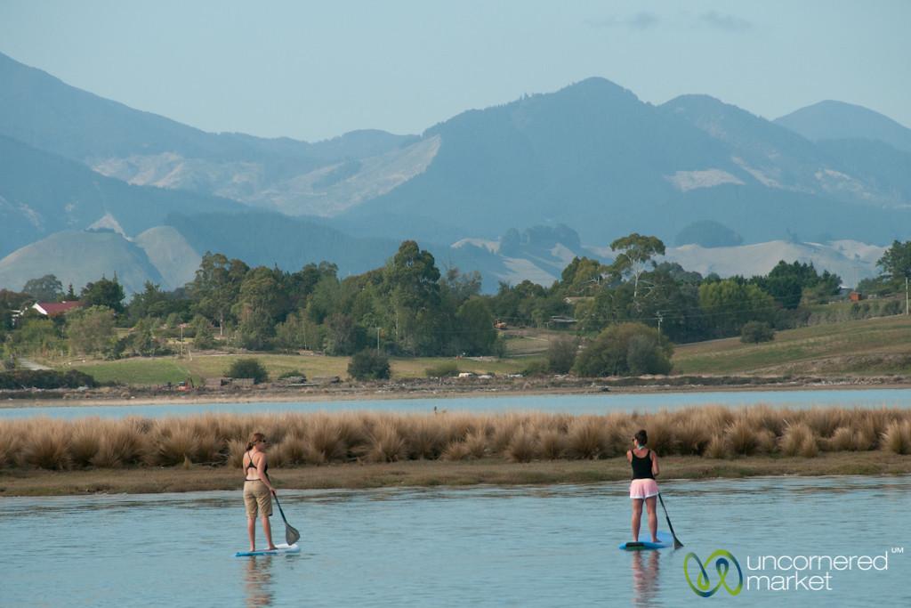 Paddle Boarding at Mapua, New Zealand