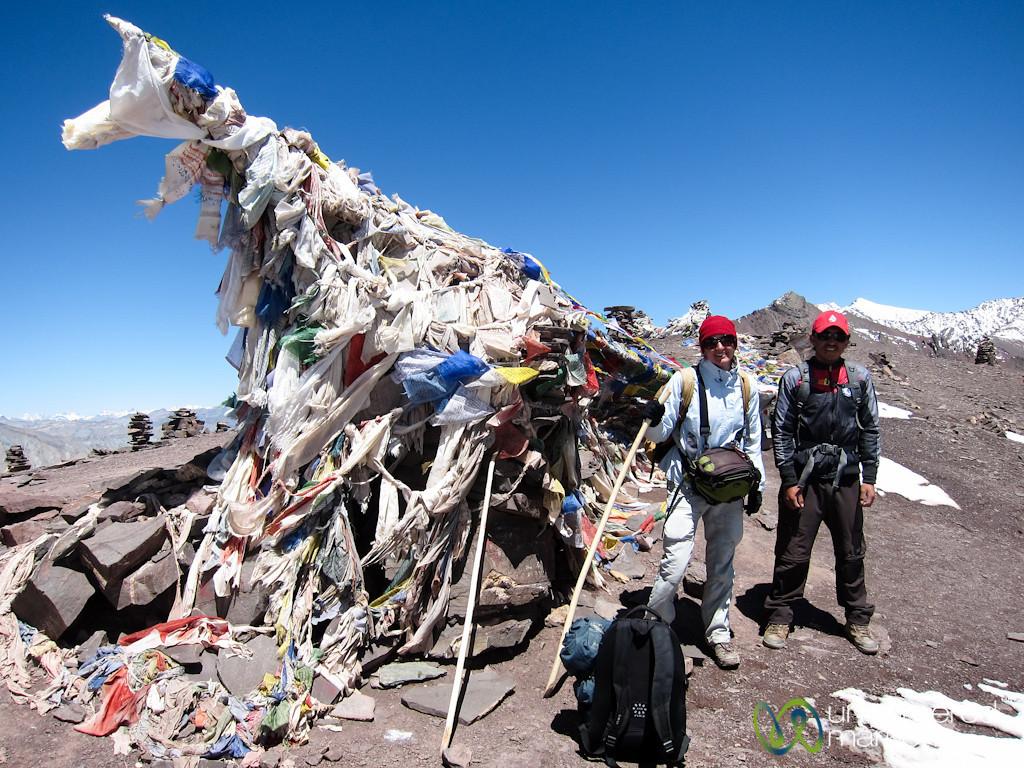 Audrey and Dorjee, Gongmaru La Pass - Ladakh, India
