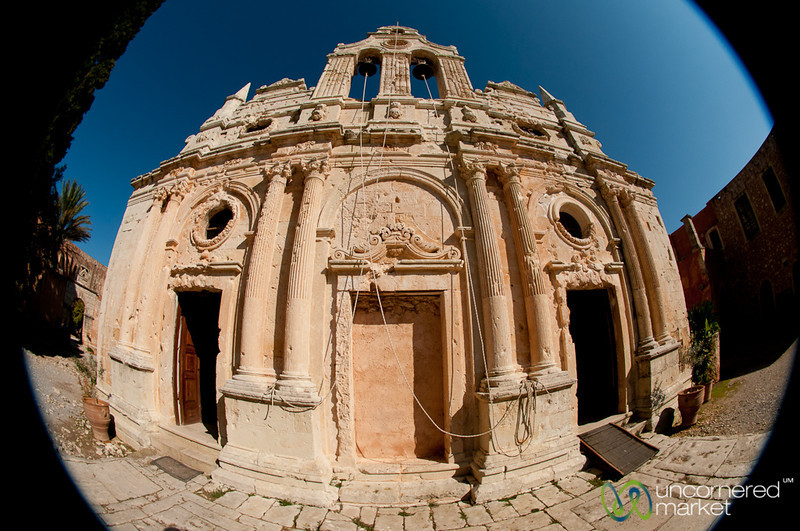 Fisheye of Arkadi Monestary - Crete, Greece
