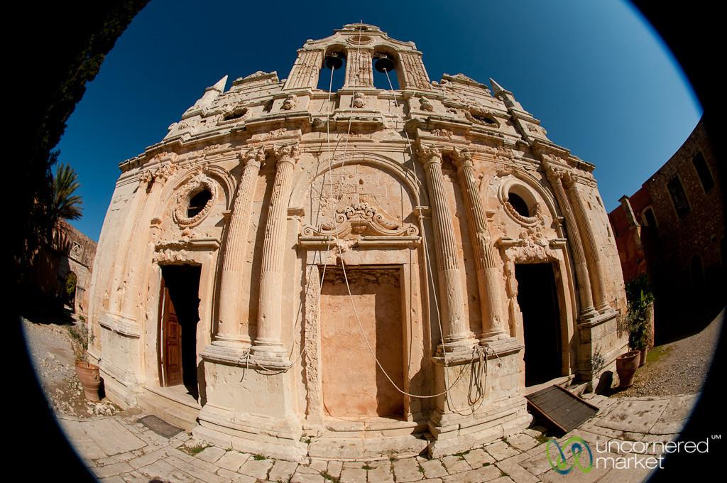 Fisheye of Arkadi Monestary - Crete, Greece