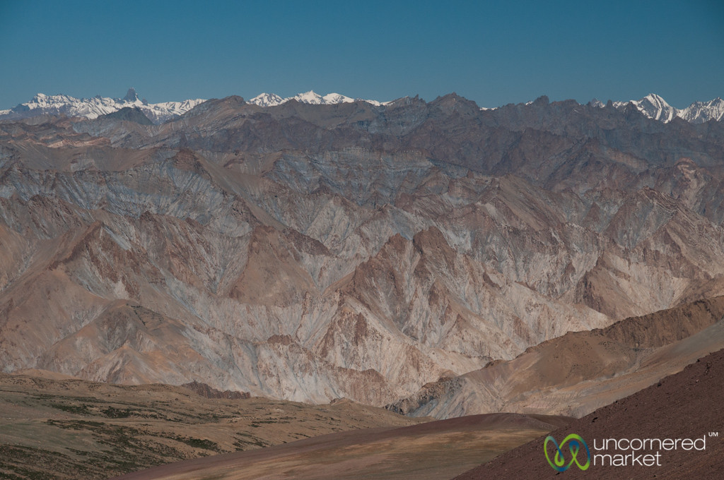 Looking Out Over Zanskar Mountain Range - Ladakh, India