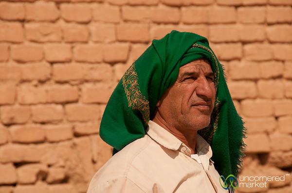 Iranian Man at Tchogha Zabnil Ziggurat - Iran