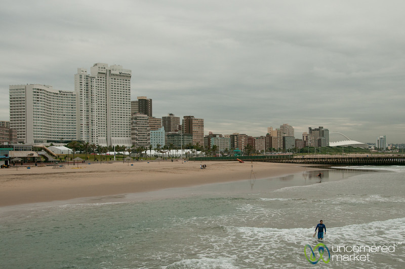 Durban Beach and Surfer - KwaZulu-Natal, South Africa