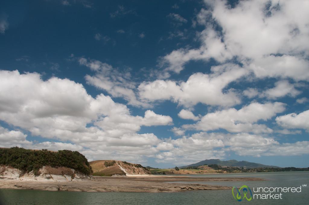 Boat Ride Around Raglan Harbor - New Zealand