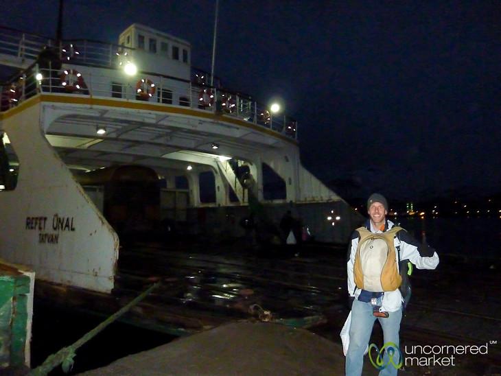 Dan at Ferry Across Lake Van, Turkey