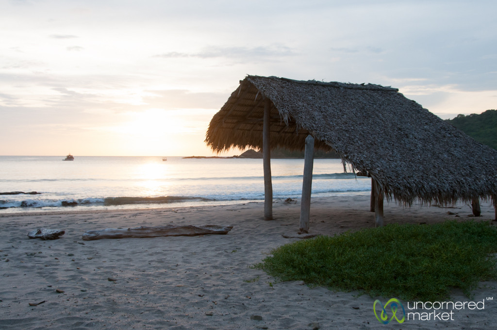 Sunset, Beach Hut, Long Walk - Morgan's Rock, Nicaragua