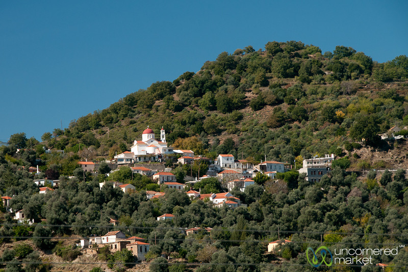 Cretan Village on the Hill - Crete, Greece