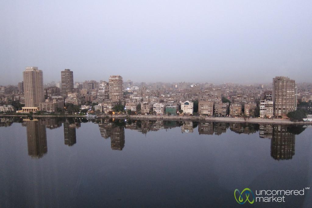 Cairo Skyline Over Nile River - Egypt