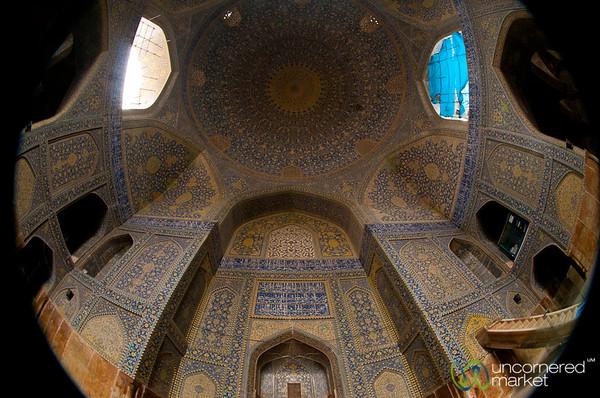 Inside Imam Mosque - Esfahan, Iran