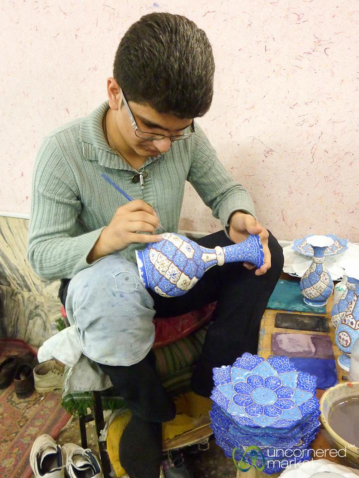 Painting Persian Ceramics - Esfahan, Iran