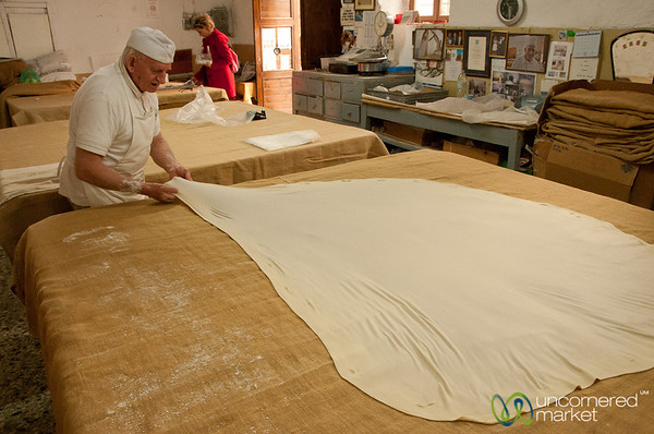 Stretching the Filo Dough - Rethymnon, Crete