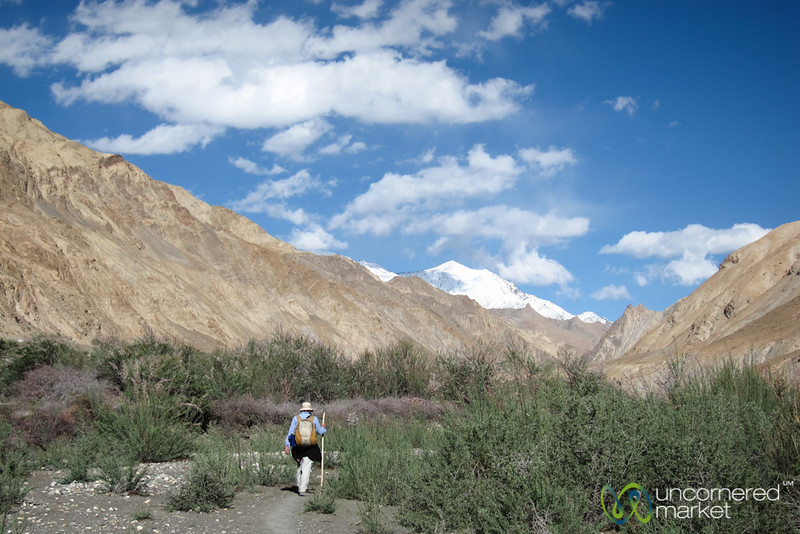 Audrey Hikes through Valley on Way to Markha - Ladakh, India
