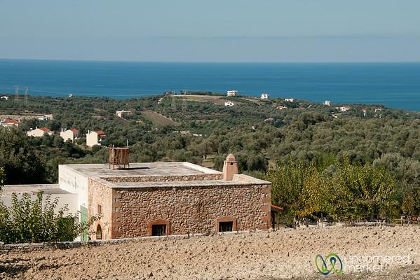 View from Agreco Farm Near Rethymnon, Crete