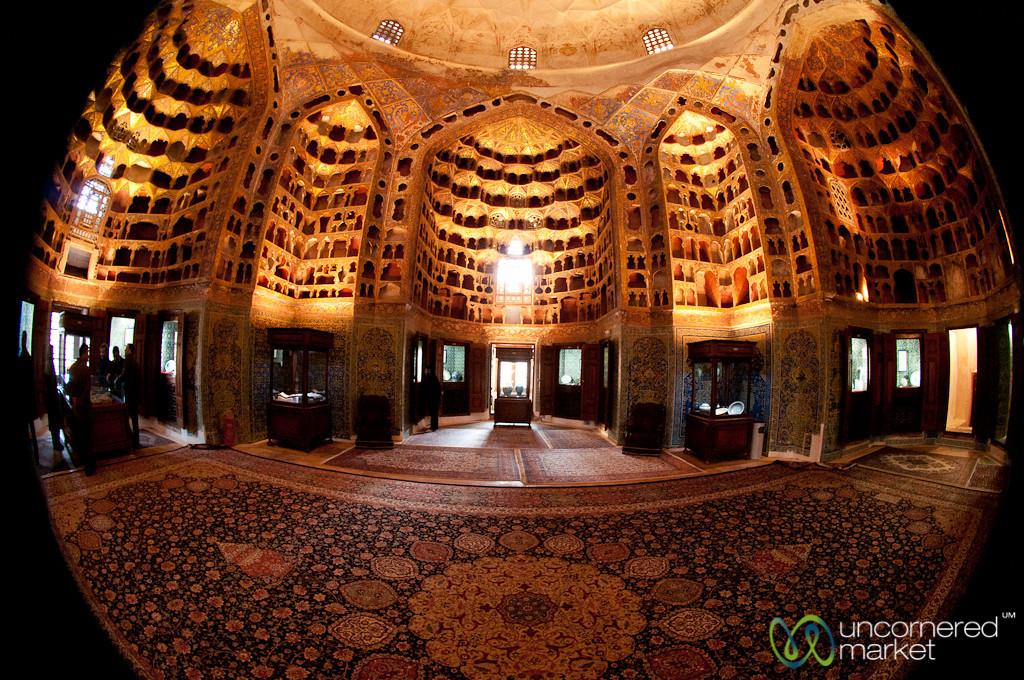 Fisheye View Inside Safi-od-Din Mausoleum - Ardabil, Iran