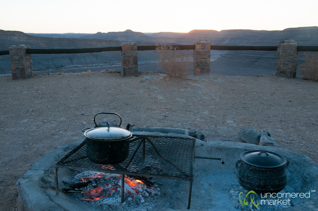 Cooking Over the Fire - Fish River Canyon, Namibia