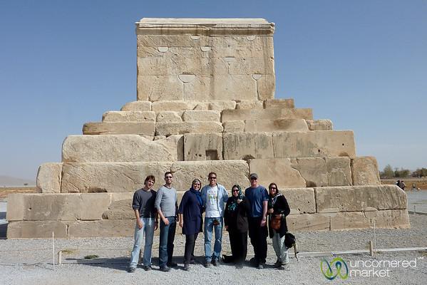 G Adventures Group at Tomb of Cyrus - Pasargadae, Iran