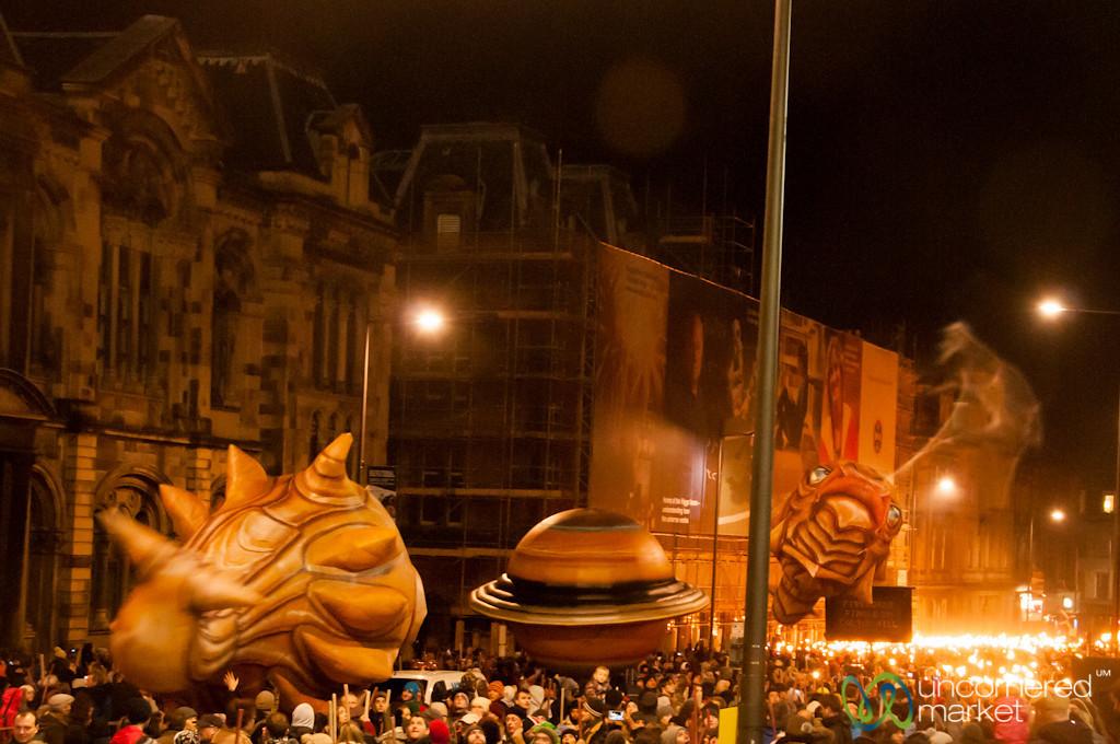 Edinburgh Hogmanay Torchlight Procession Kicks Off - Scotland