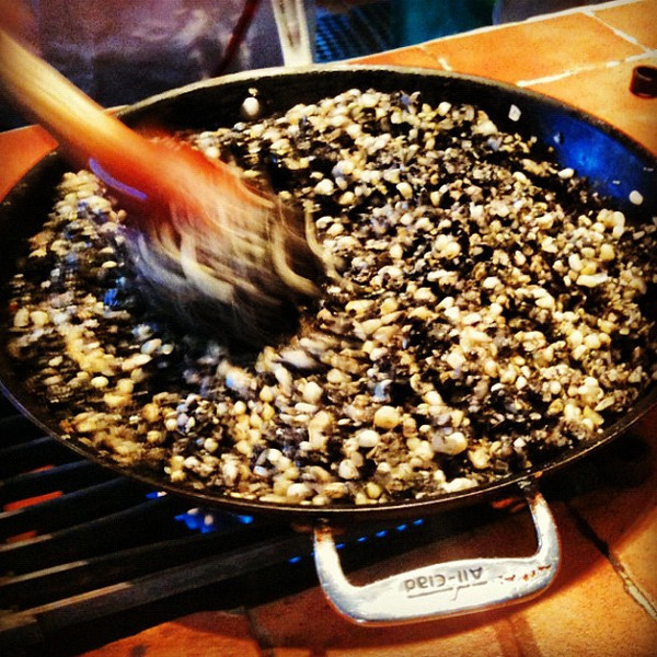 Stir-fried corn fungus - huitlacoche #Mexico #foodie