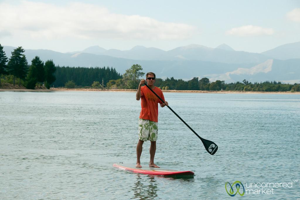 Dan Masters the Paddle Board - Mapua, New Zealand