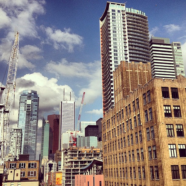 A slice of Toronto cityscape, the old Club District from the @hotelTemplar rooftop