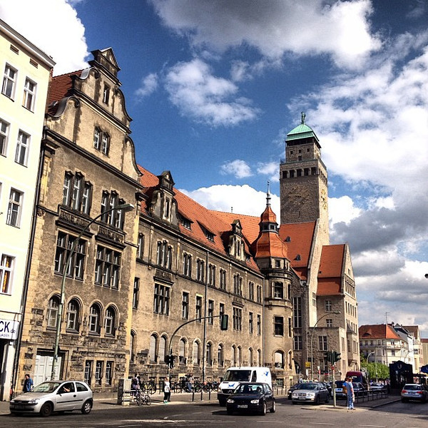 Fair skies over the Rathaus, Neukölln #Berlin