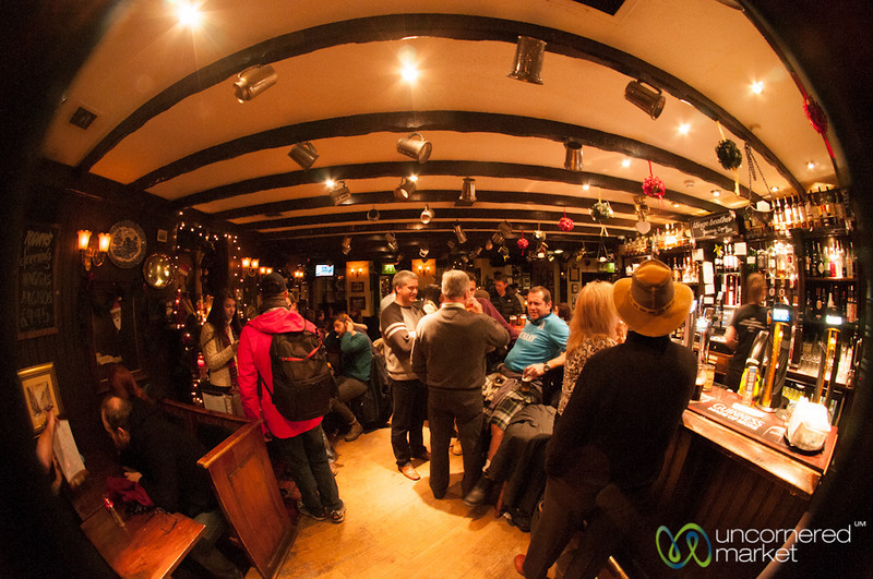 Scottish Pub, Fisheye View - Edinburgh, Scotland