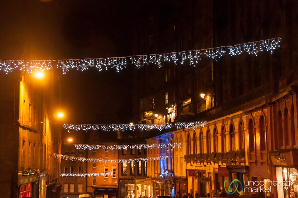 Victoria Street at Night - Edinburgh, Scotland
