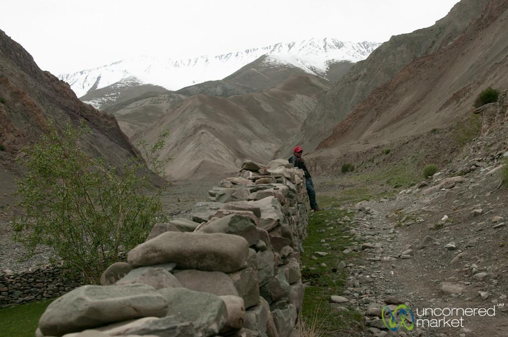 Walking into Yurutse Village - Day 1 of Markha Valley Trek, Ladakh