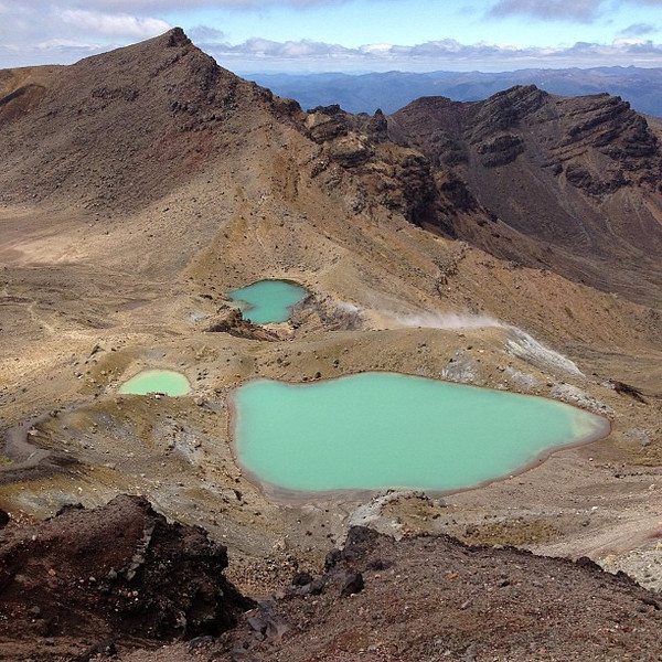 The Emerald Lakes, today's New Zealand #nofilter special. What you see is what you get.