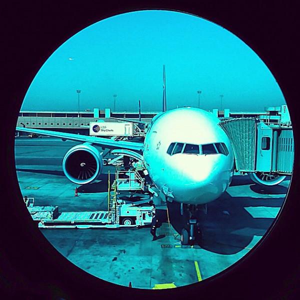 Keeping an eye on the plane, CAI-JFK #WeVisitEgypt