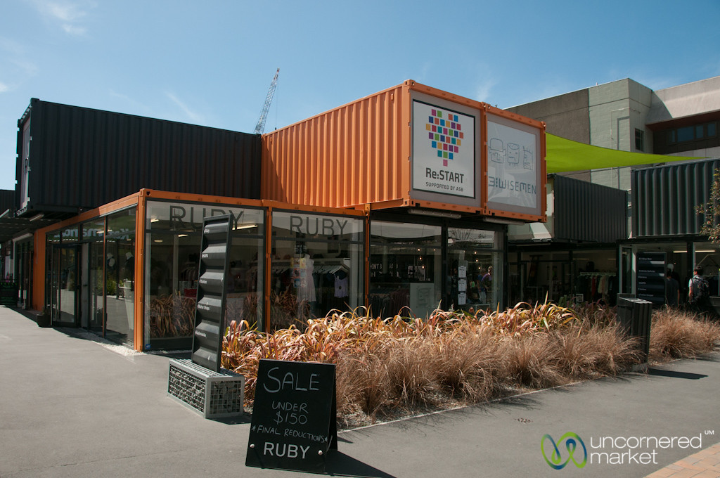 Container Mall at Christchurch, New Zealand