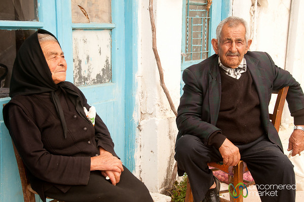 Crete Village People Chatting - Greece