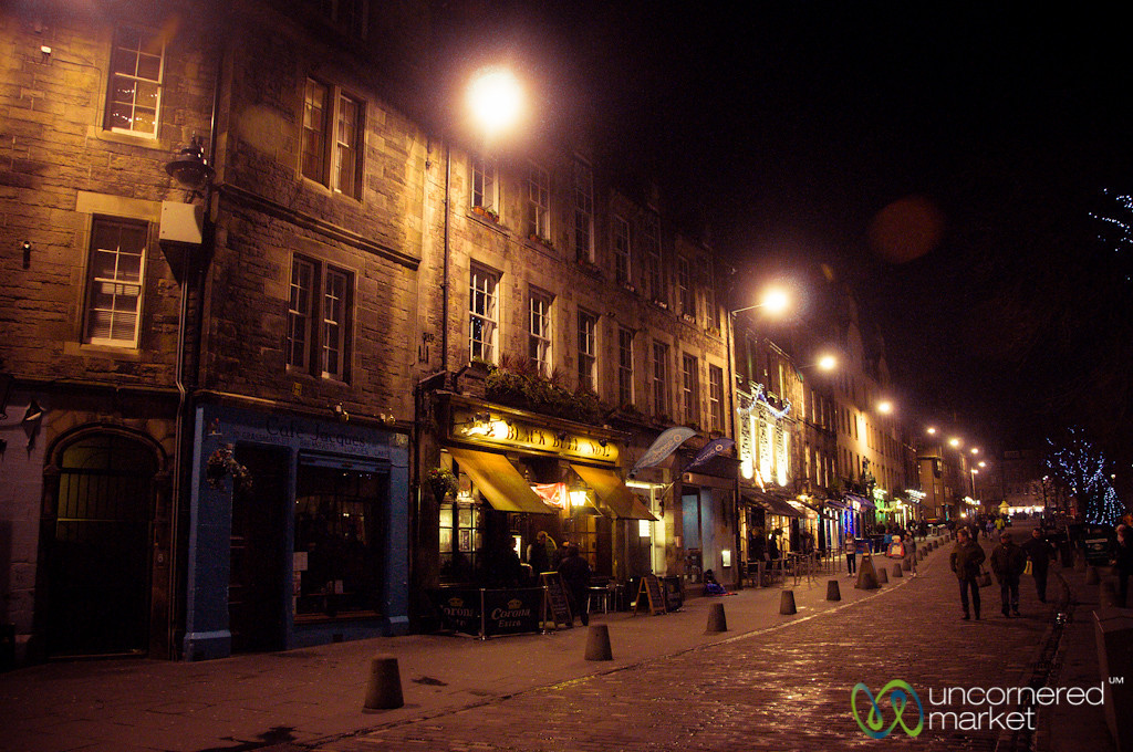 Grass Market at Night - Edinburgh, Scotland