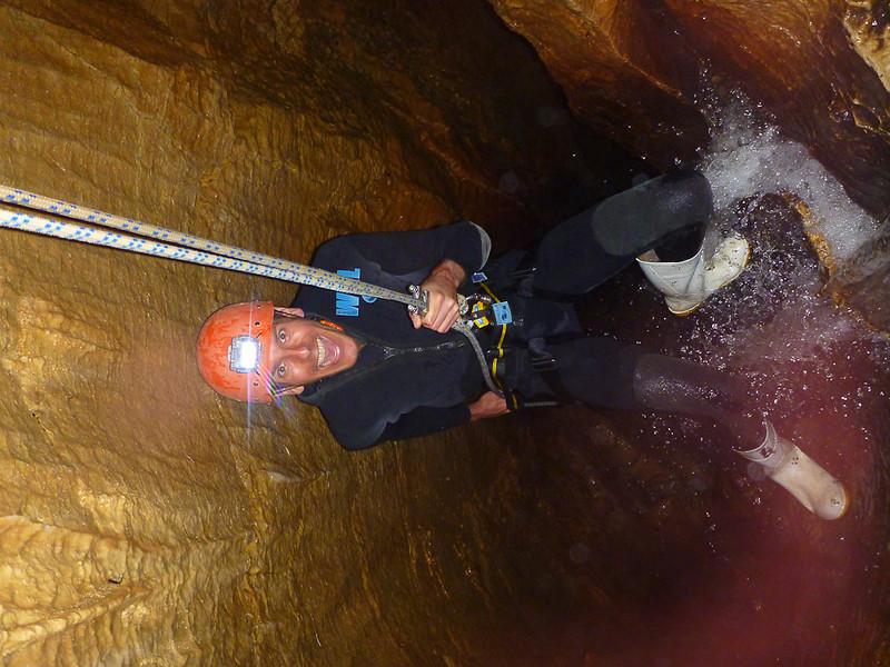 Dan Abseils Into Waitomo Caves - New Zealand