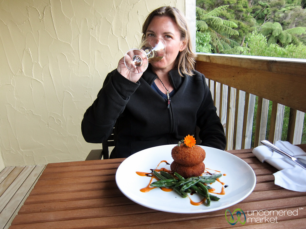 Lochmara Lodge Dinner on Balcony - Marlborough, New Zealand