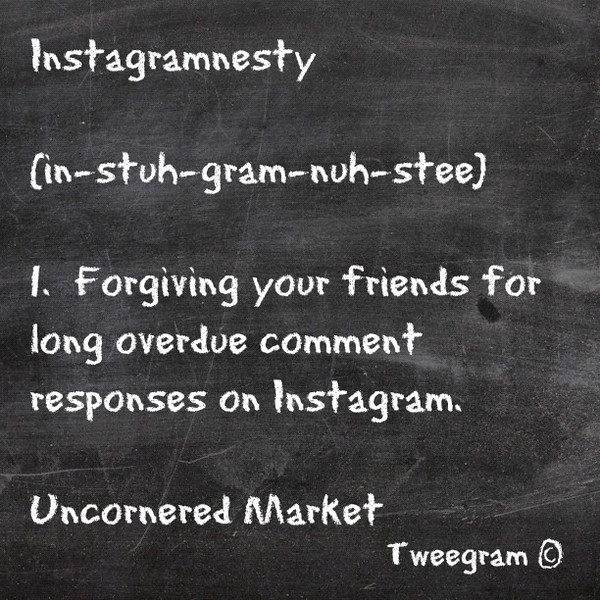 Instagramnesty, for those of you falling behind on your #Instagram comments #tweegram