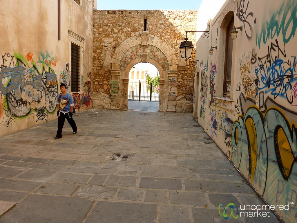 Rethymnon Street View and Graffiti - Crete