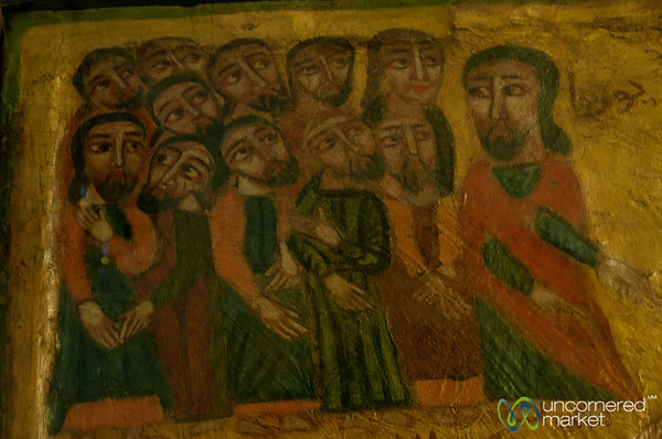 Medieval Painting at Hanging Church - Coptic Cairo, Egypt