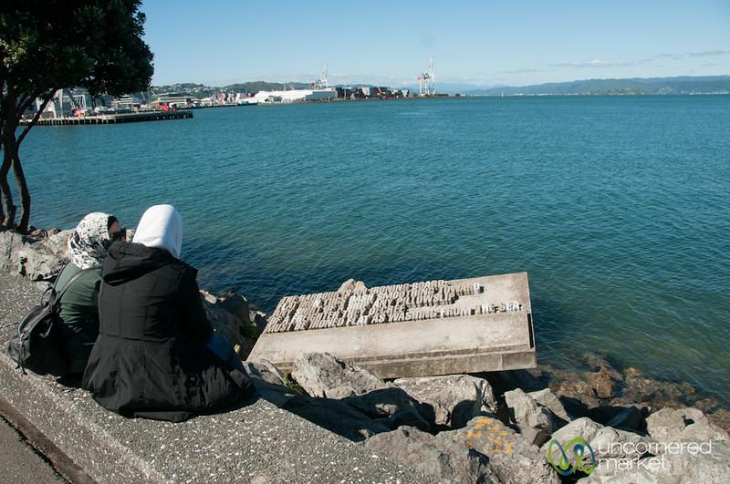 Women and Poetry in Wellington Harbor - New Zealand